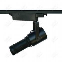 Projecteur logo gobo lumineux LED fixation rail électrifié