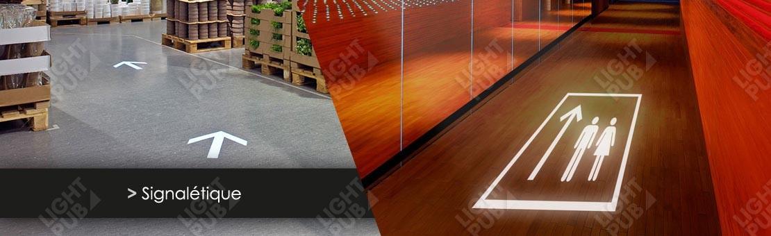 Projection signalétique lumineuse au sol