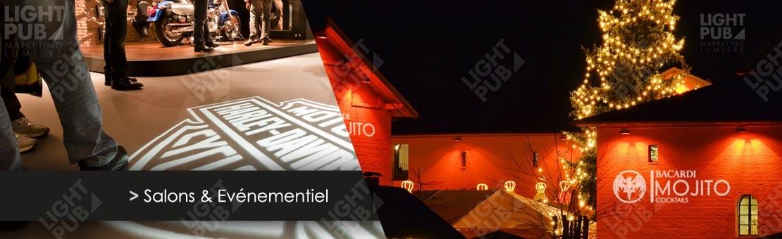 Projection logo lumineux salon et événement