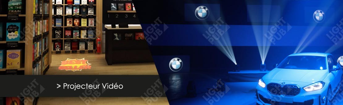 Projection logo vidéo en mouvement